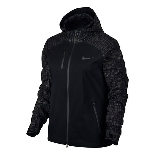 Womens Nike Hypershield Flash Running Jackets - Black L