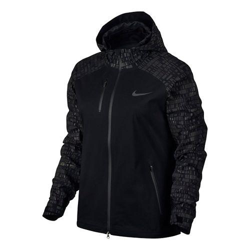 Womens Nike Hypershield Flash Running Jackets - Black XL