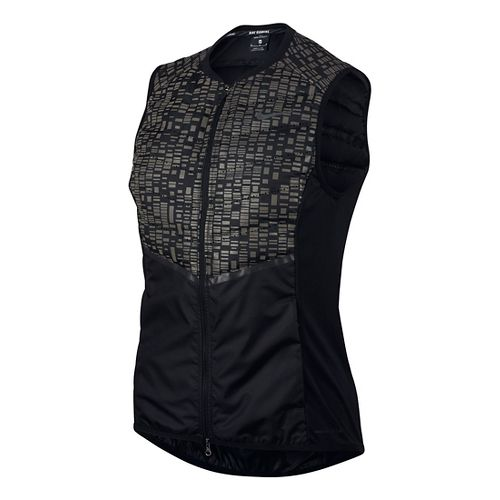 Womens Nike Aeroloft Flash Vests - Black L