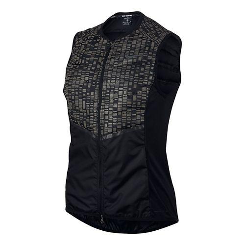 Womens Nike Aeroloft Flash Vests - Black XL