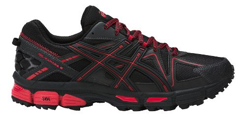 Mens ASICS GEL-Kahana 8 Trail Running Shoe - Black/Red 10.5