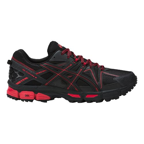 Mens ASICS GEL-Kahana 8 Trail Running Shoe - Black/Red 7