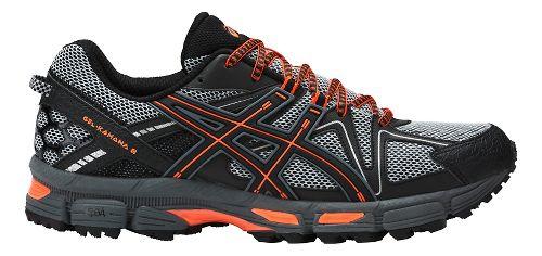 Mens ASICS GEL-Kahana 8 Trail Running Shoe - Grey/Orange 14