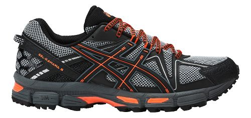 Mens ASICS GEL-Kahana 8 Trail Running Shoe - Grey/Orange 6.5