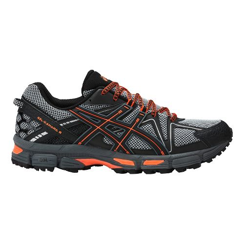 Mens ASICS GEL-Kahana 8 Trail Running Shoe - Grey/Orange 14