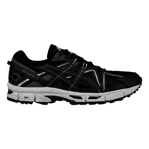 Mens ASICS GEL-Kahana 8 Trail Running Shoe - Black/Silver 16