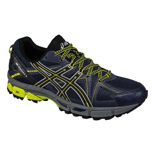 Mens ASICS GEL-Kahana 8 Trail Running Shoe - Navy/Black 8