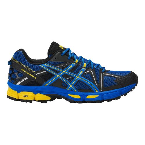 Mens ASICS GEL-Kahana 8 Trail Running Shoe - Blue/Yellow 12