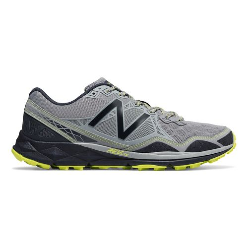 Mens New Balance 910v3 Trail Running Shoe - Grey/Yellow 9.5