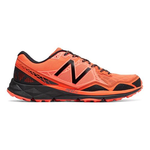 Mens New Balance 910v3 Trail Running Shoe - Orange/Grey 12.5