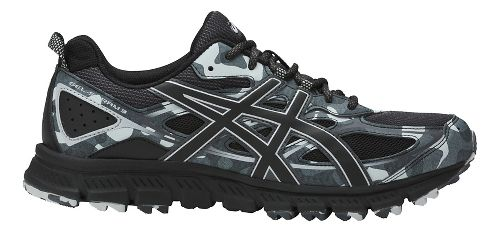 Mens ASICS GEL-Scram 3 Trail Running Shoe - Black/Grey 7.5