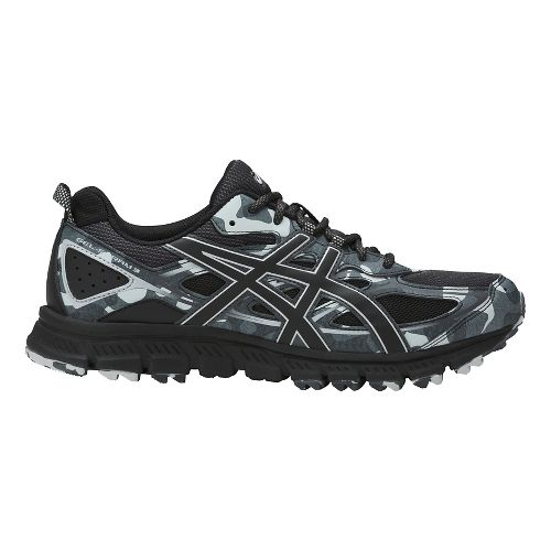 Mens ASICS GEL-Scram 3 Trail Running Shoe - Black/Grey 8