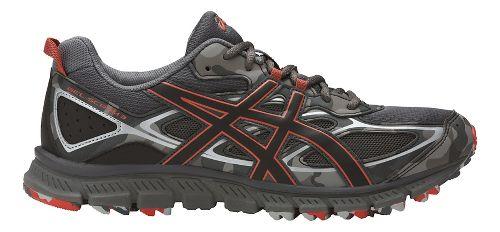 Mens ASICS GEL-Scram 3 Trail Running Shoe - Grey/Red Clay 14