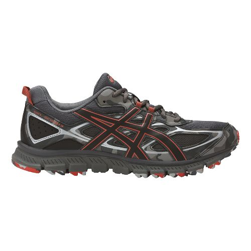 Mens ASICS GEL-Scram 3 Trail Running Shoe - Grey/Red Clay 12.5