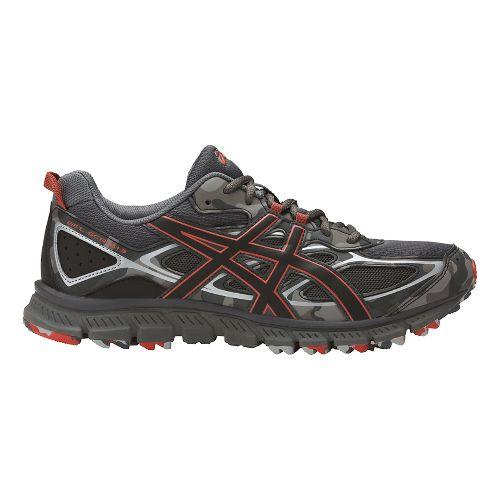Mens ASICS GEL-Scram 3 Trail Running Shoe - Grey/Red Clay 6.5