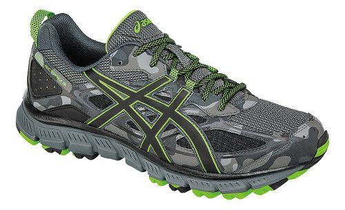 Mens ASICS GEL-Scram 3 Trail Running Shoe - Grey/Green 7