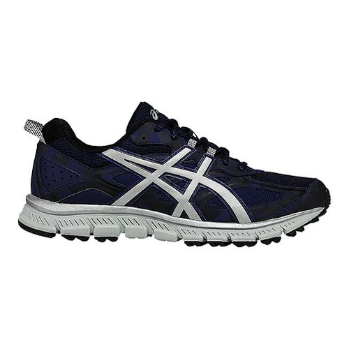 Mens ASICS GEL-Scram 3 Trail Running Shoe - Blue/Silver 7.5