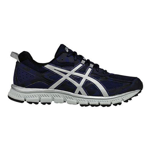 Mens ASICS GEL-Scram 3 Trail Running Shoe - Blue/Silver 8