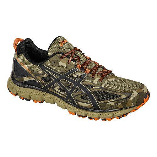 Mens ASICS GEL-Scram 3 Trail Running Shoe - Brown/Orange 10.5