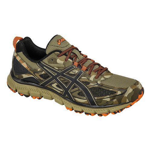 Mens ASICS GEL-Scram 3 Trail Running Shoe - Brown/Orange 9