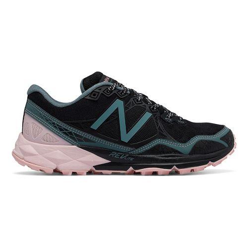 Womens New Balance 910v3 Trail Running Shoe - Black/Pink 9.5
