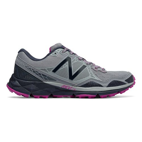 Womens New Balance 910v3 Trail Running Shoe - Grey/Purple 6