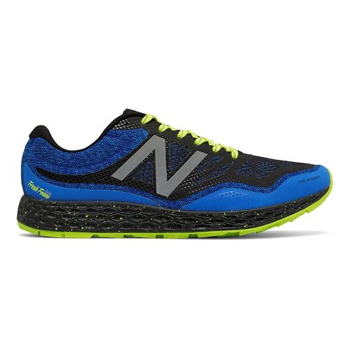 Mens New Balance Fresh Foam Gobi Trail Running Shoe - Blue/Yellow 11