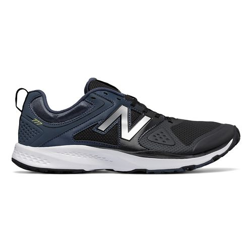 Mens New Balance 777v2 Cross Training Shoe - Black/Grey 12.5