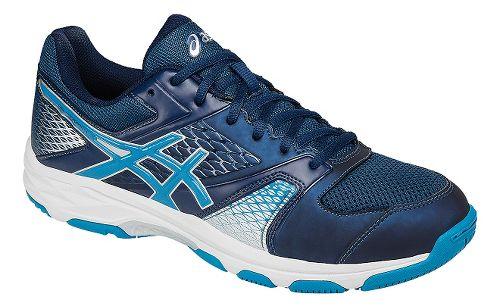 Mens ASICS GEL-Domain 4 Court Shoe - Blue/White 12.5