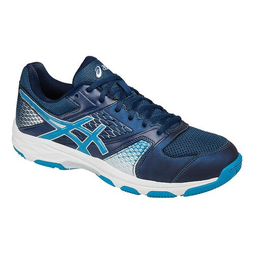 Mens ASICS GEL-Domain 4 Court Shoe - Blue/White 15