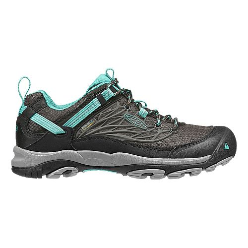 Womens KEEN Saltzman WP Hiking Shoe - Black/Teal 6.5