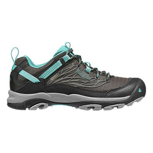 Womens KEEN Saltzman WP Hiking Shoe - Black/Teal 7.5