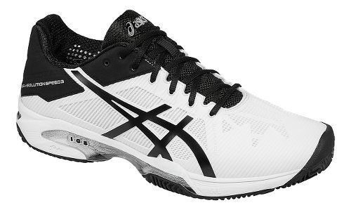 Mens ASICS GEL-Solution Speed 3 Clay Court Shoe - White/Black 13