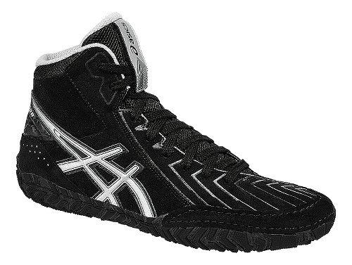 Mens ASICS Aggressor 3 Wrestling Shoe - Black/Silver 12.5