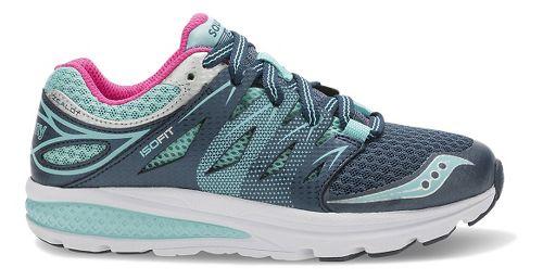 Kids Saucony Zealot 2 Running Shoe - Navy/Turquoise 4Y