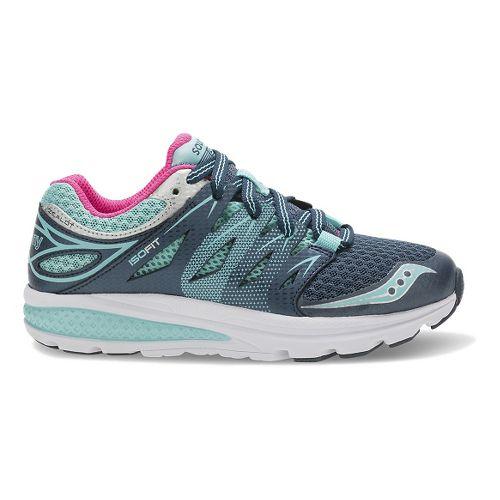 Kids Saucony Zealot 2 Running Shoe - Navy/Turquoise 5Y