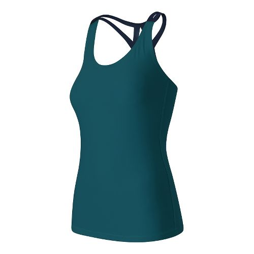 Womens New Balance Fashion Sleeveless & Tank Technical Tops - Castaway XS