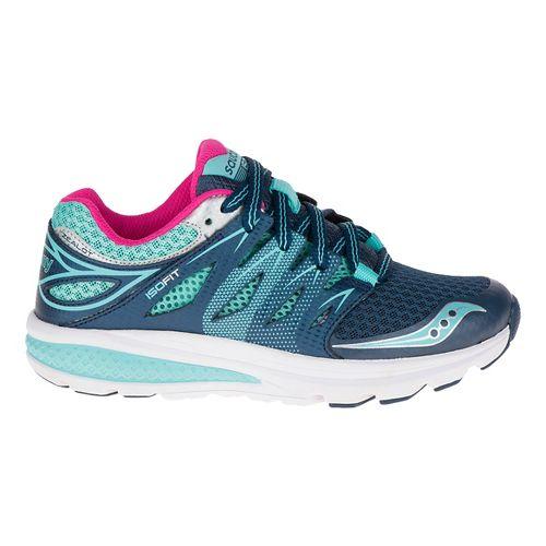 Kids Saucony Zealot 2 Running Shoe - Navy/Turquoise 10.5C