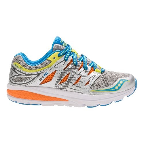 Kids Saucony Zealot 2 Running Shoe - Grey/Multi 2.5Y