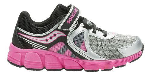 Kids Saucony Kotaro 3 A/C Running Shoe - Silver/Pink 1Y