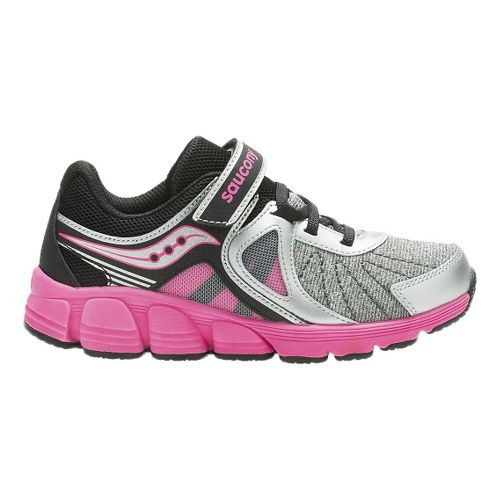 Kids Saucony Kotaro 3 A/C Running Shoe - Silver/Pink 12C