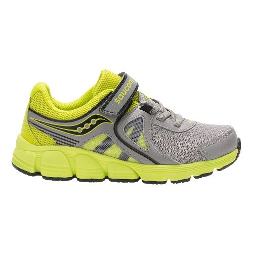 Kids Saucony Kotaro 3 A/C Running Shoe - Grey/Lime 12C