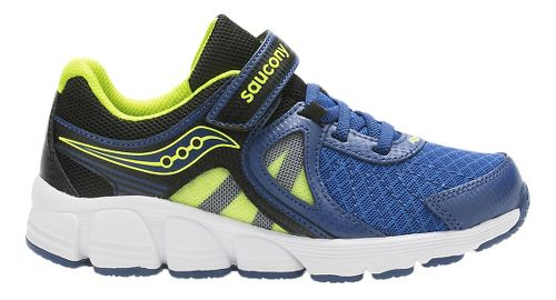 Kids Saucony Kotaro 3 A/C Running Shoe - Blue/Citron 1Y