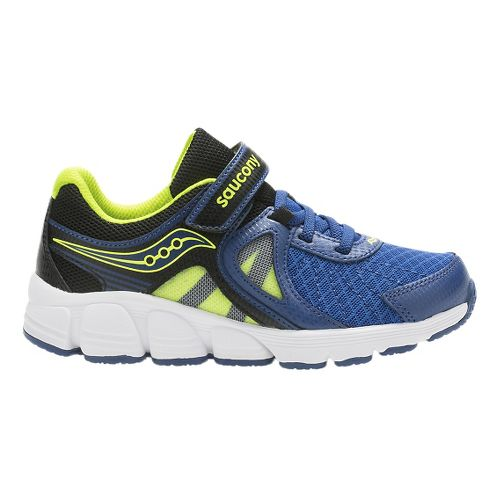 Kids Saucony Kotaro 3 A/C Running Shoe - Blue/Citron 11C