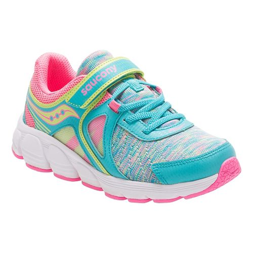 Kids Saucony Kotaro 3 A/C Running Shoe - Turquoise/Multi 12C