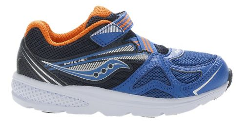Kids Saucony Baby Ride Running Shoe - Blue/Orange 11.5C