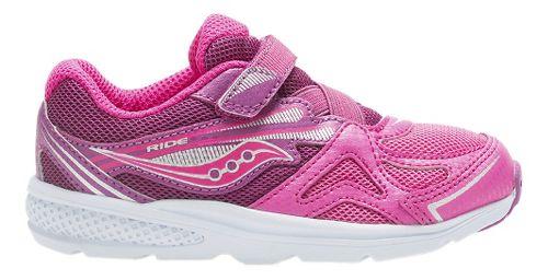Kids Saucony Baby Ride Running Shoe - Pink/Berry 6C