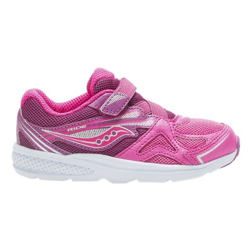 Kids Saucony Baby Ride Running Shoe - Pink/Berry 12C