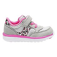 Kids Saucony Baby Jazz Lite Casual Shoe - Silver/Pink 11.5C