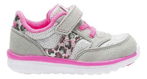 Kids Saucony Baby Jazz Lite Casual Shoe - Silver/Pink 10C